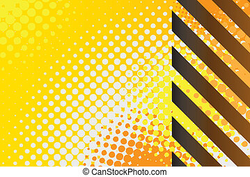 Hazard Stripes - A hazard stripes texture with halftone...