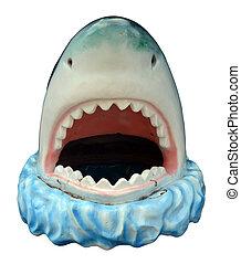 新型, プラスチック, サメ