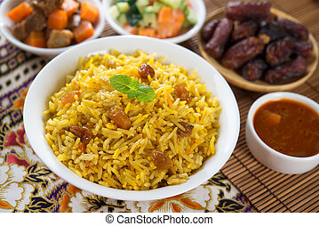 Arabian rice - Arab rice, Ramadan food in middle east...
