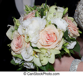 Bridal Bouquet - Beautiful Bridal Bouquet with Flowers and...