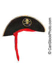 Pirate fancy dress hat studio cutout