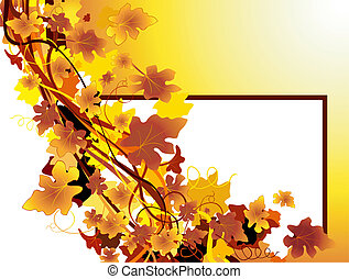 autumn background - autumnal background