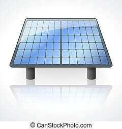 Solar battery panel isolated on white background