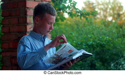 Boy Learns - boy studying for books