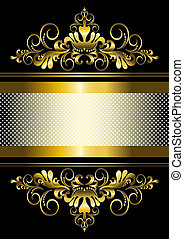 Gold ornament and gold stripes with