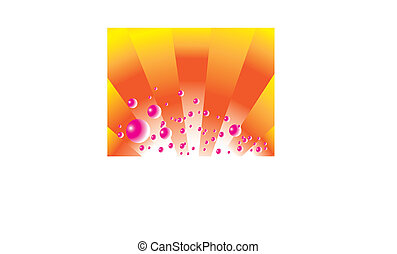 Pink Bubbly - Sun rays and pink bubbles are featured in an...