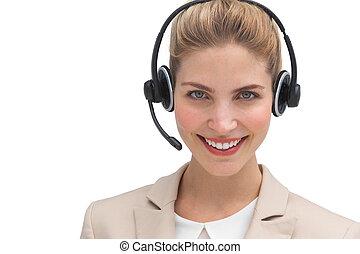 Pretty call center agent