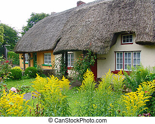 Typical thatched roof cottage