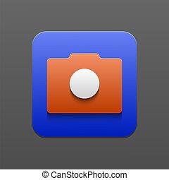 Vector camera icon. Eps10