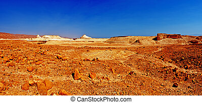 Middle East - Judean Desert on the West Bank of the Jordan...
