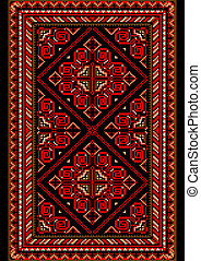 Carpet in the old style with red an