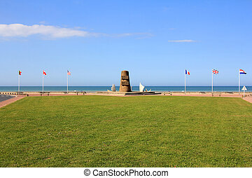 Memorial at Omaha Beach - place of landing of allied forces...