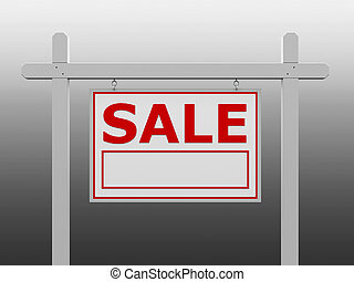 Red sale signpost