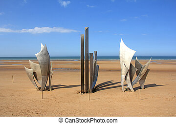 Memorial Omaha Beach - Memorial at Omaha Beach - place of...