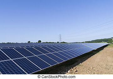 Solar panel farm renewable energy generation
