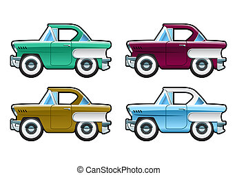 Classic Cars - 60s - illustration of car