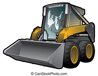 skid loader - A small skid loader