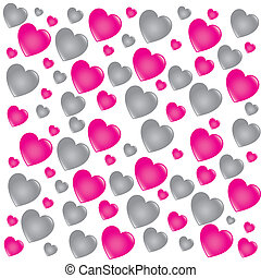 hearts background - hearts skin over white background vector...