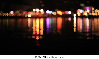Defocused lights  with reflection o
