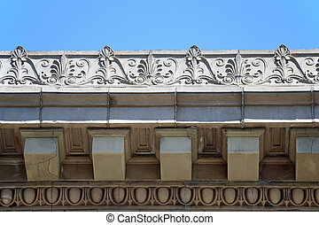 Cornice - The intricate and artistic cornice of a building