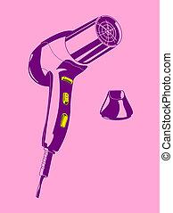 hair-drier - illustration of a hair drier