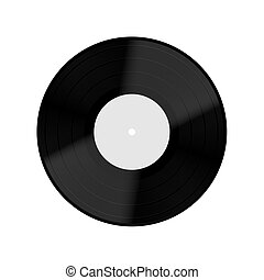 Vector Old vinyl record isolated on white background. Eps10
