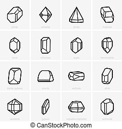 Crystal icons - Set of crystal icons