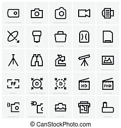 Photo and optical icons - Set of Photo and optical icons