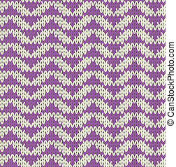 Knit pattern - Seamless knit pattern with violet triangles