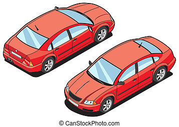 isometric image of a car