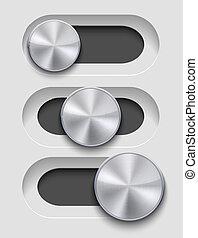 Vector ui Slider seton gray background. Eps10