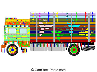 Indian truck - Colorful Indian truck