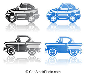 illustration of car - illustration of modern coupe and...