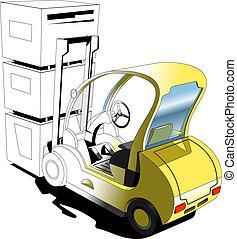 Forklift - illustration of the forklift.