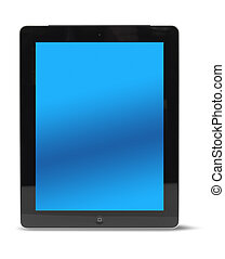 Tablet computer front isolated