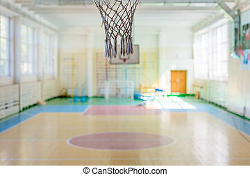 Sport complex in Russian school - Empty sport complex in...