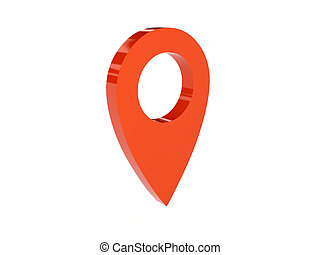 Point location icon - Point location icon over white...