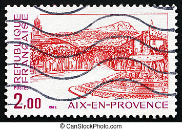 Postage stamp France 1982 Renaissance Fountain, Aix-en...