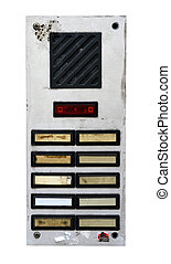 Grungy Intercom - Grungy Apartment Intercom