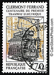 Postage stamp France 1989 Clermont-Ferrand Tramway - FRANCE...