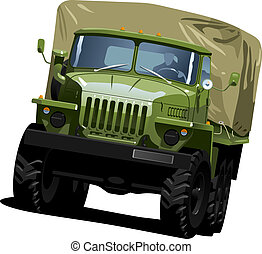 off-highway truck - color illustration of military truck ....