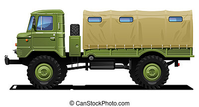 military truck - color illustration of  military truck .