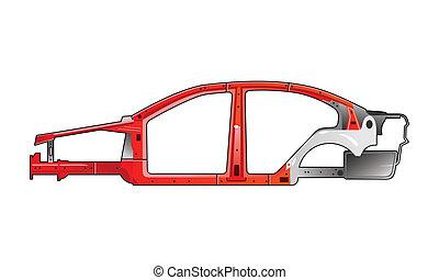 car frame - illustration of a car frame.