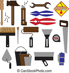 Construction tools and equipment - Vector image of...