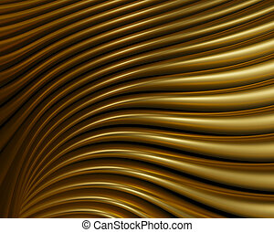 Artistic brushed metal reflections