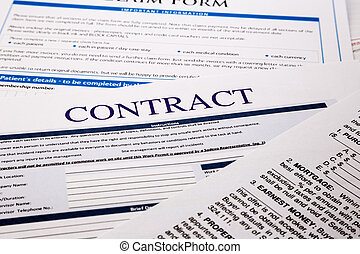 contract form, business concept and legal system