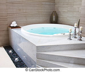 Jacuzzi in a spa complex