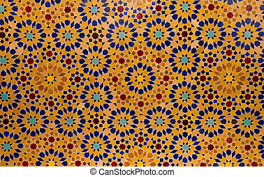 Pattern of an arabic tile floor