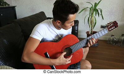 playing guitar 6