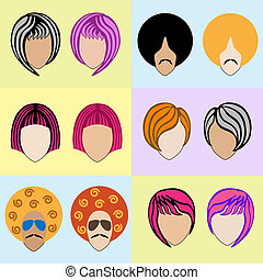 Stylish colored wigs - Stylish men's and women's colored...